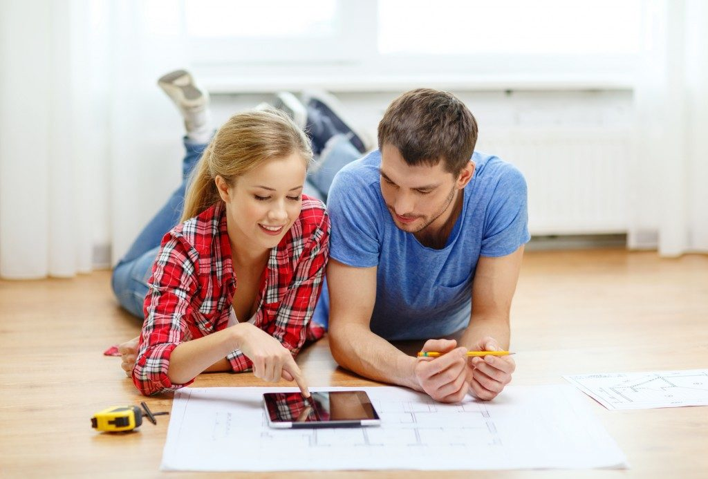 Couple designing new house