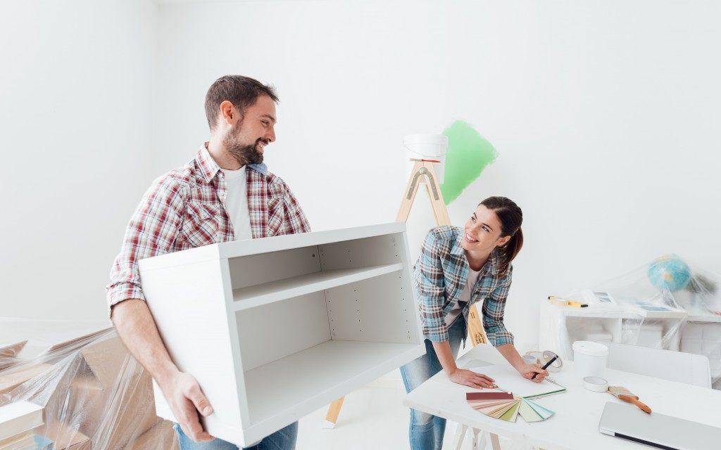 Couple designing new house