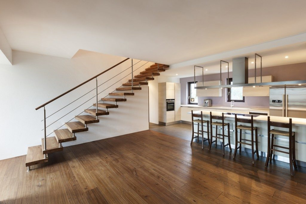 modern house interior house with stairs