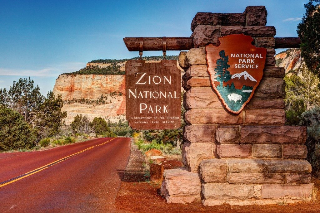 East entrance of Zion National Park