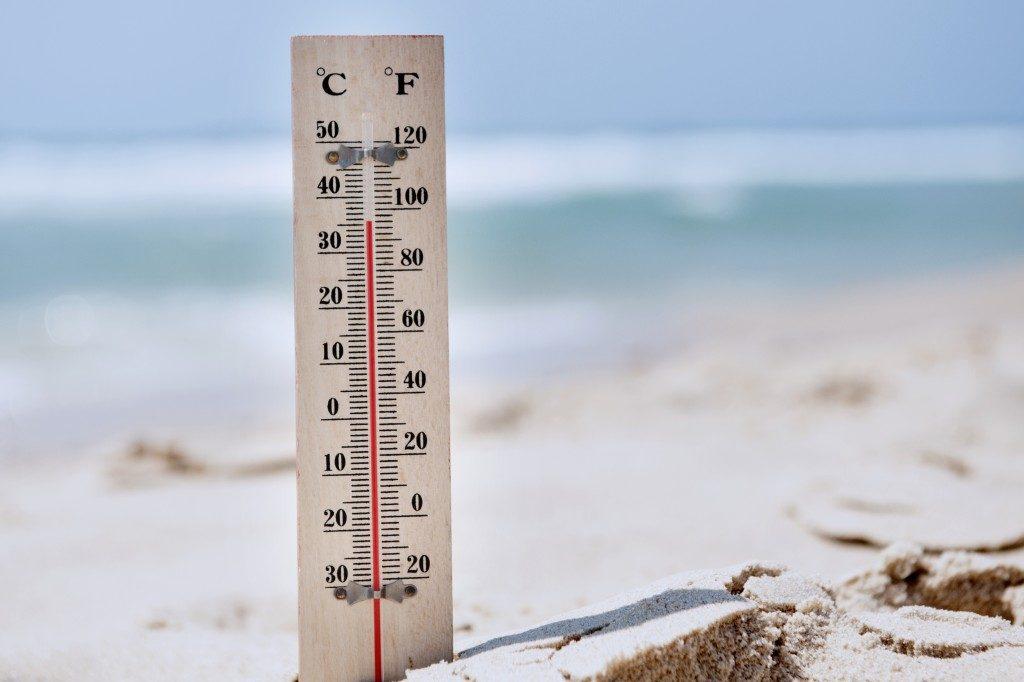 hot temperature during summer